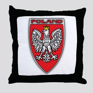 Poland Tarcza Throw Pillow
